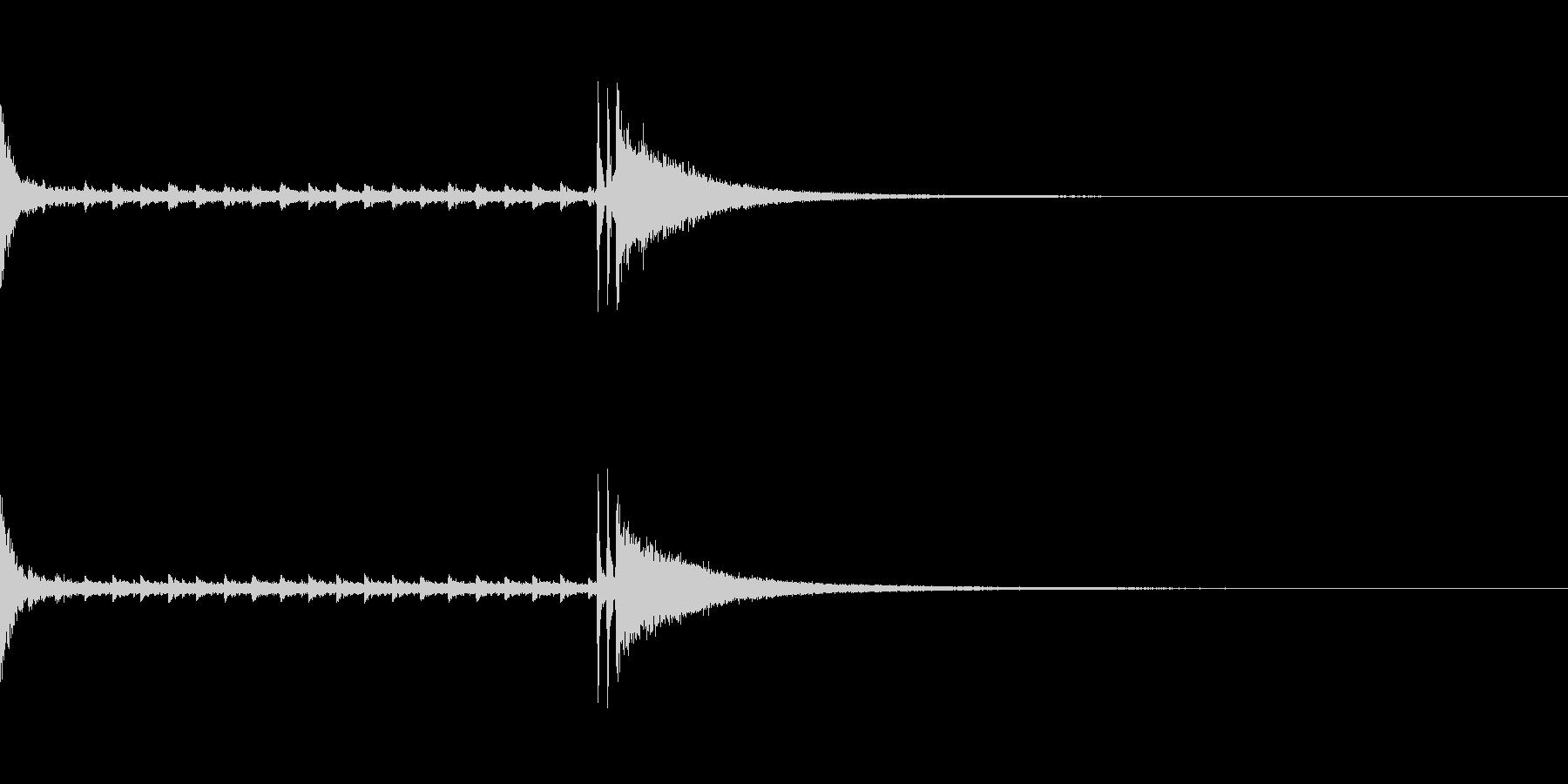 結果発表などのシンプルなドラムロールの未再生の波形