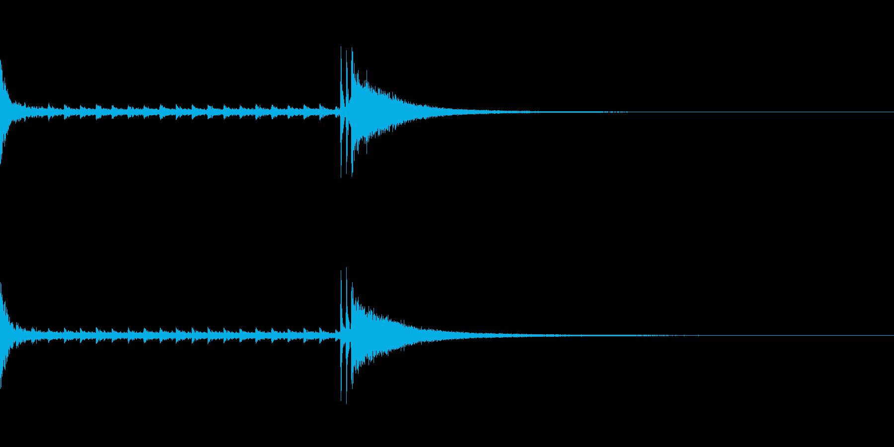結果発表などのシンプルなドラムロールの再生済みの波形