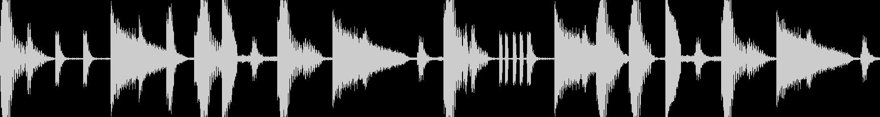 トラップミュージックのリズムループです。の未再生の波形