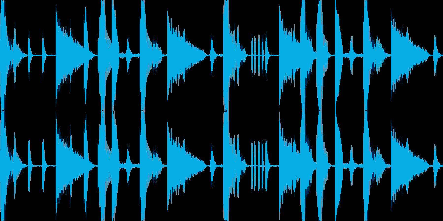 トラップミュージックのリズムループです。の再生済みの波形