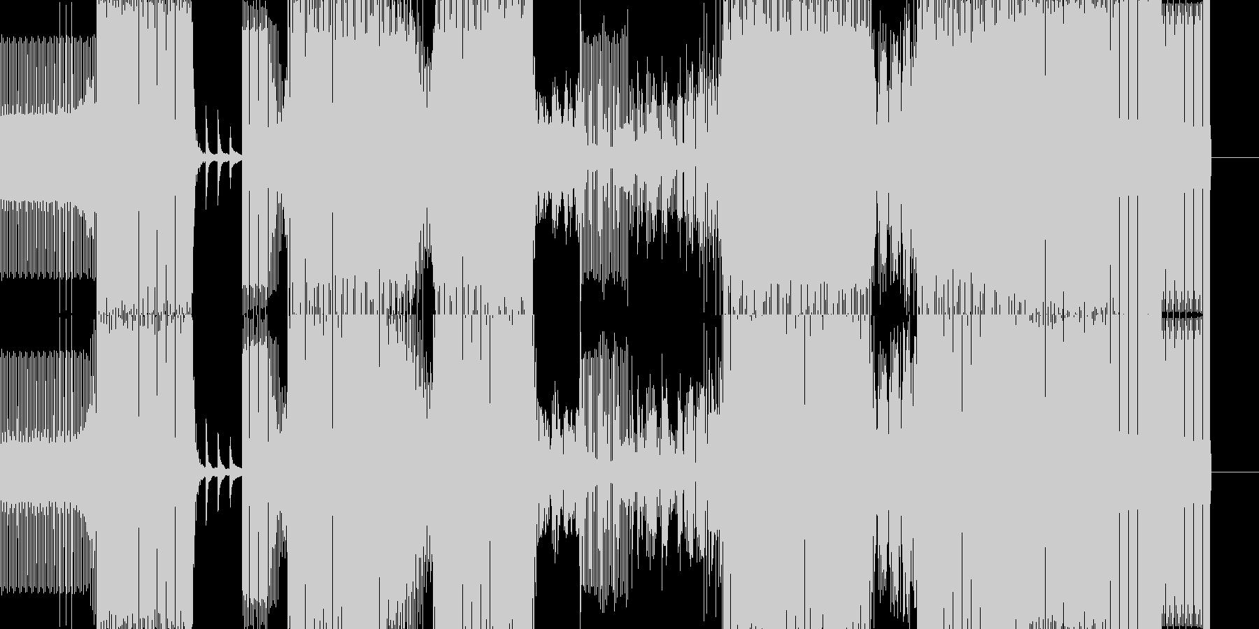 ダンス-ハウスの未再生の波形