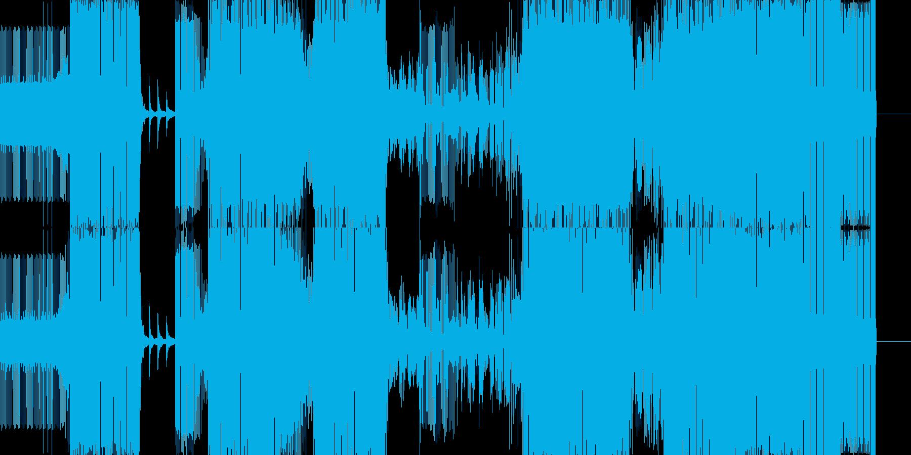 ダンス-ハウスの再生済みの波形