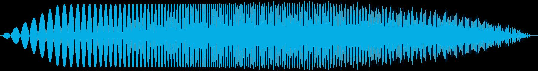 ブオオ(膨らむ音 膨張 クローズアップ)の再生済みの波形