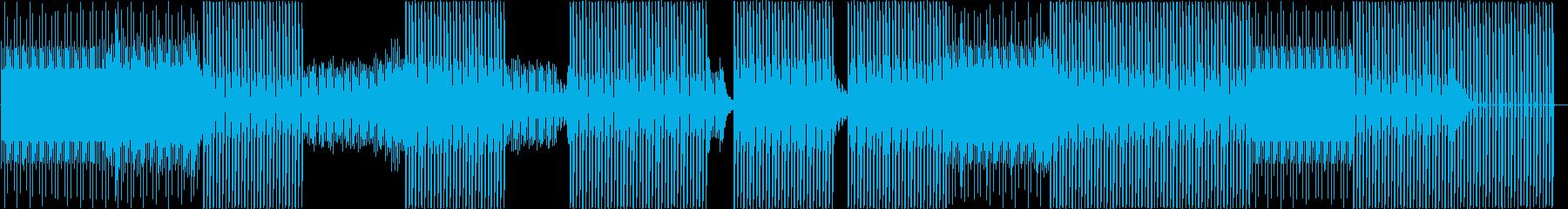 ハウス。シーケンサー。ランニングの再生済みの波形