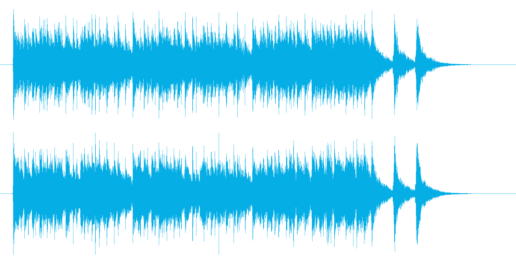 激しくワクワク感の和風シンセサウンド短めの再生済みの波形