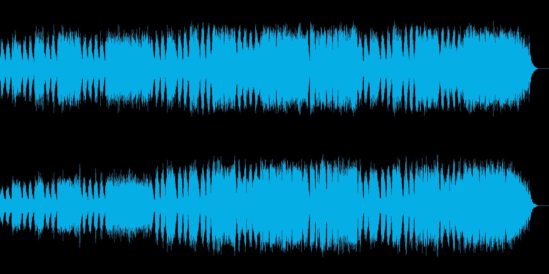 冬の夜空の澄んだオルゴール風アンビエントの再生済みの波形