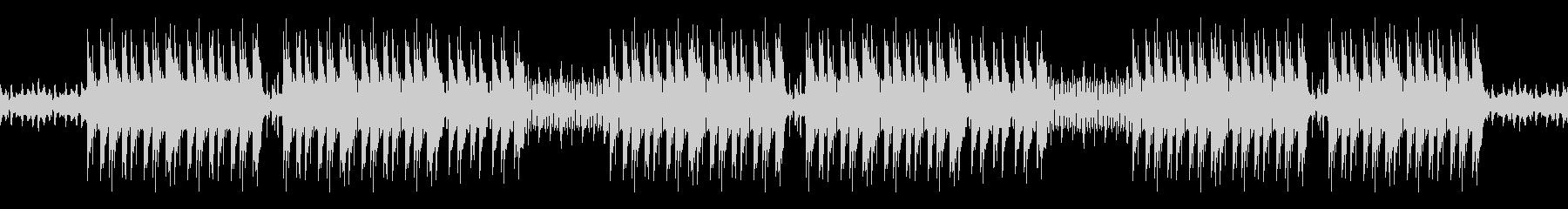 ホラーっぽいピアノトラップビートの未再生の波形