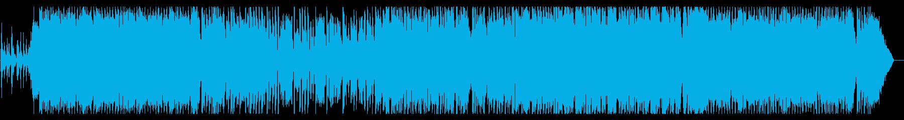 激しいサウンドのアイドルポップの再生済みの波形