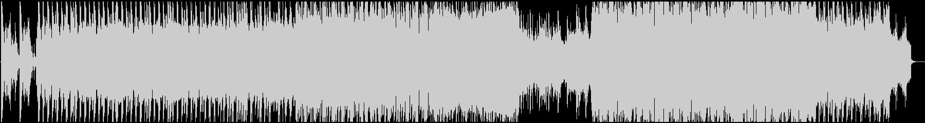 ダブステップでダイナミックな曲の未再生の波形