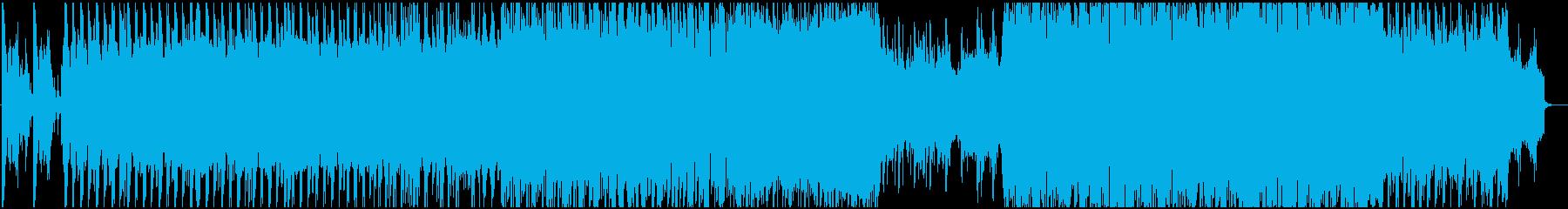 ダブステップでダイナミックな曲の再生済みの波形