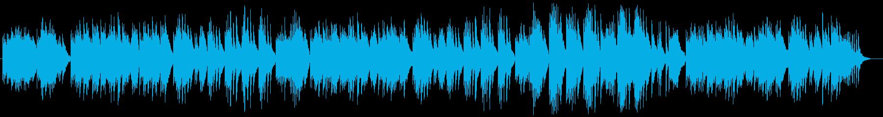 ピアノによるゆったりとしたバラードの再生済みの波形