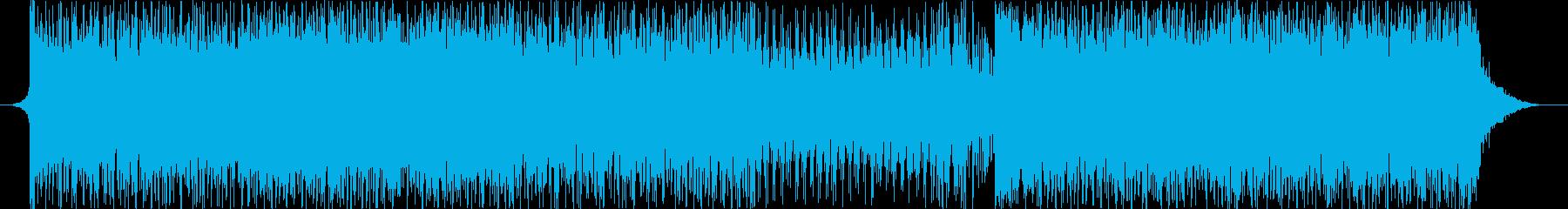 近未来な夜の雰囲気なSynthwaveの再生済みの波形