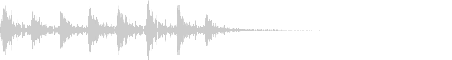 【生録音】小鳥のさえずり 野鳥 1の未再生の波形