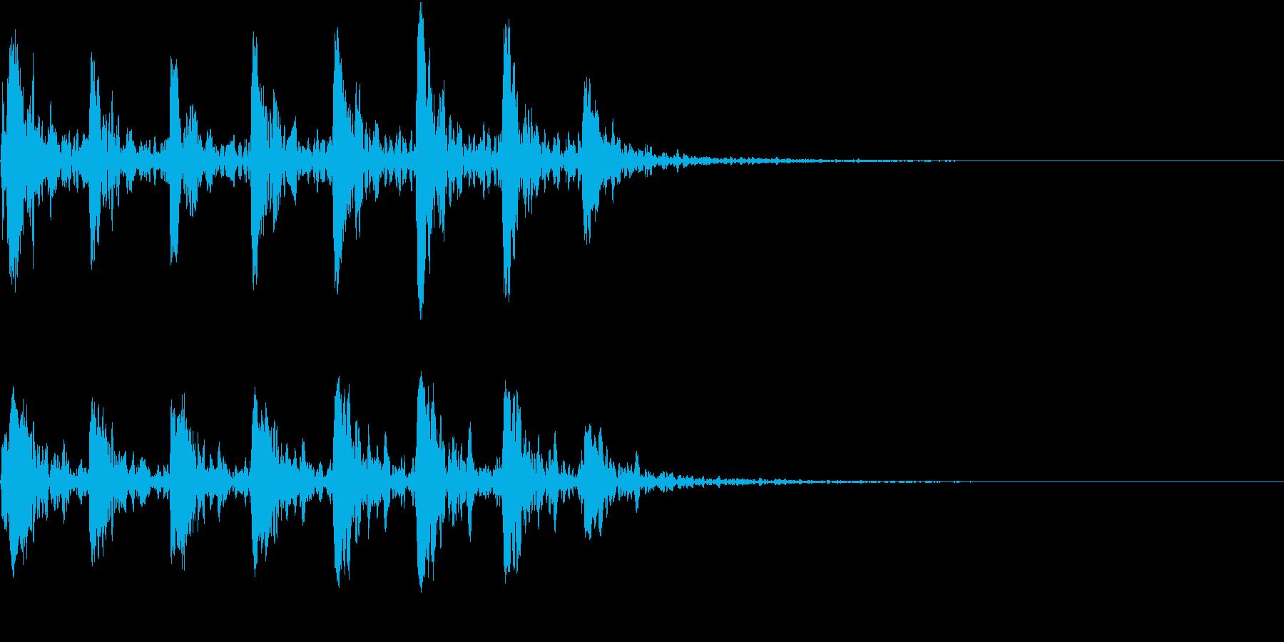 【生録音】小鳥のさえずり 野鳥 1の再生済みの波形