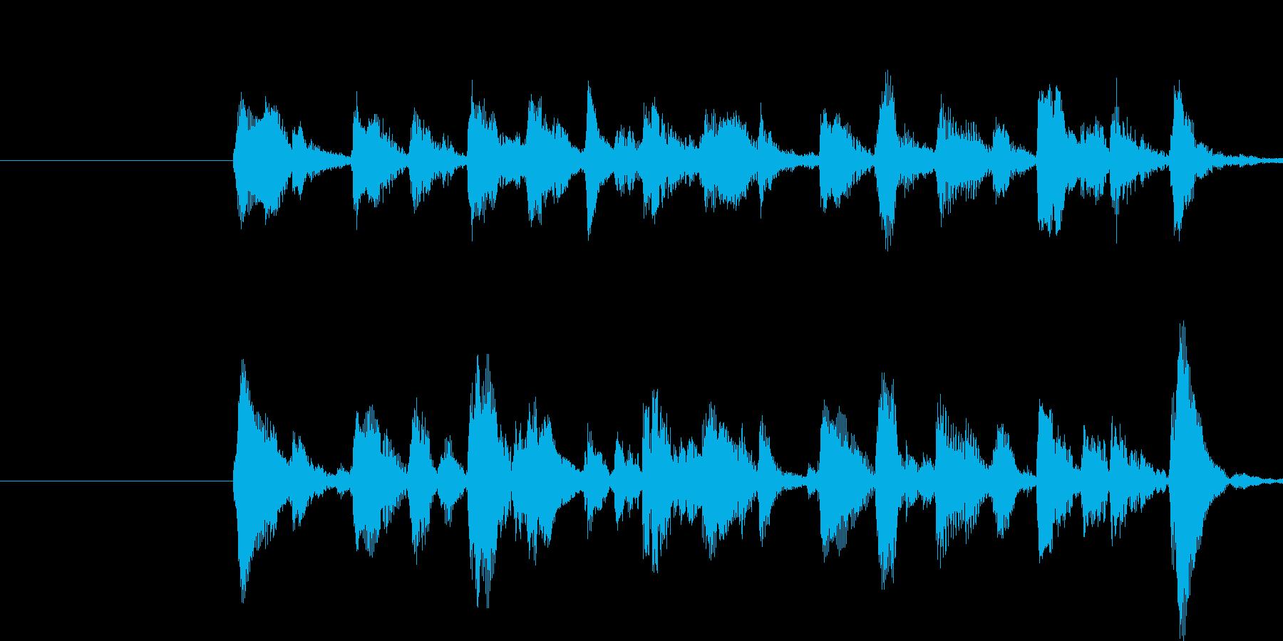 ハロウィン的で怪しげなジングルの再生済みの波形
