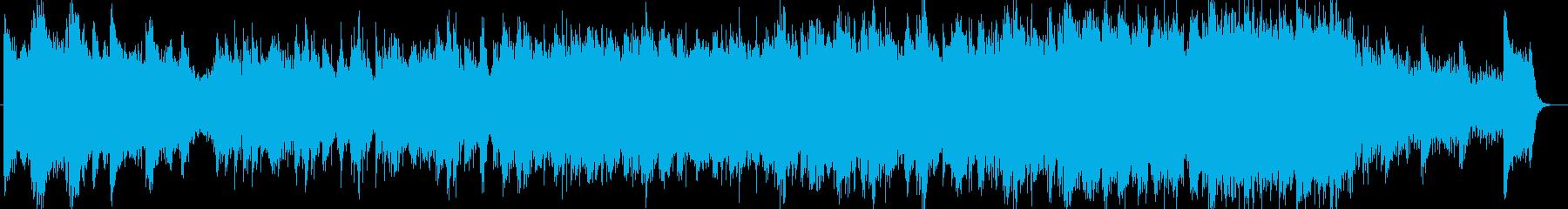ゆったりと明るいシンセサイザーの曲の再生済みの波形