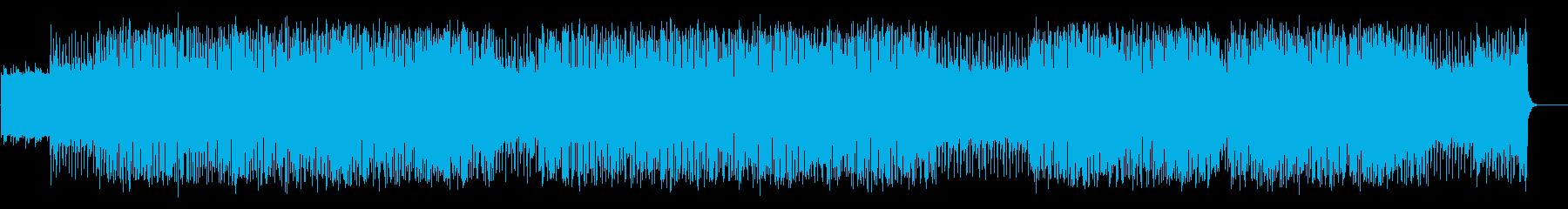 時計仕掛けが動き出す無機質なテクノの再生済みの波形