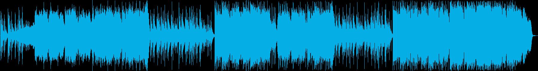 尺八・箏メインのゆったりした和風楽曲の再生済みの波形