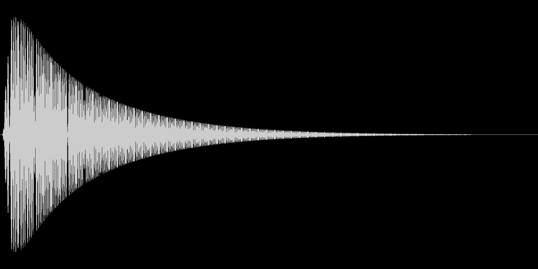 ピュゥゥゥゥの未再生の波形