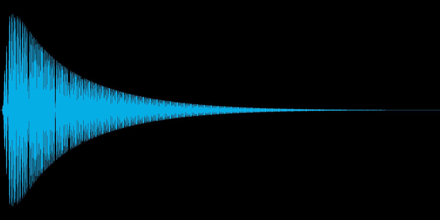 ピュゥゥゥゥの再生済みの波形