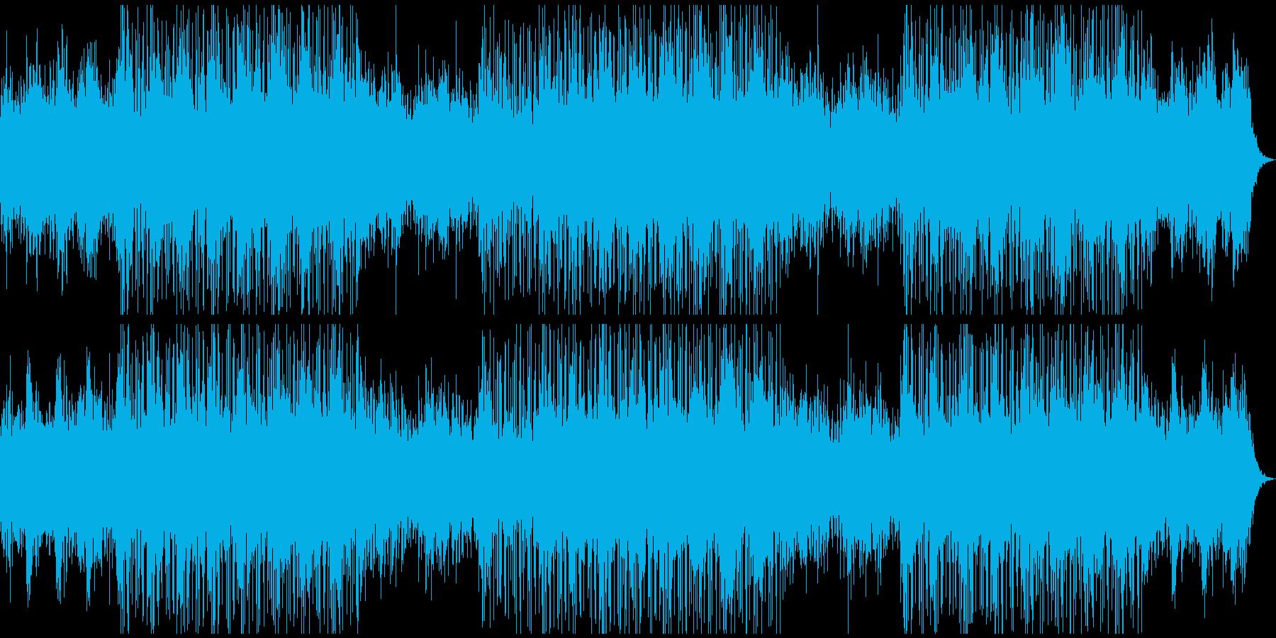 アコースティックピアノの未来的音楽の再生済みの波形