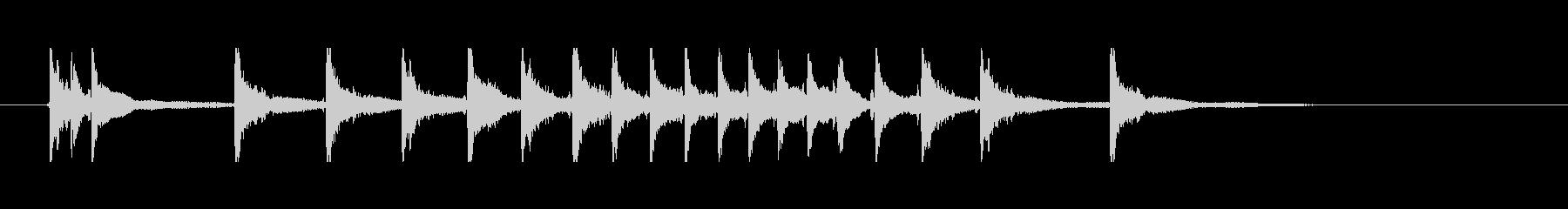 拍子木と三味線で締める3の未再生の波形