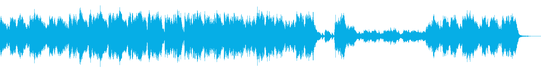 シンセベルを合わせた不穏なオーケストラ曲の再生済みの波形