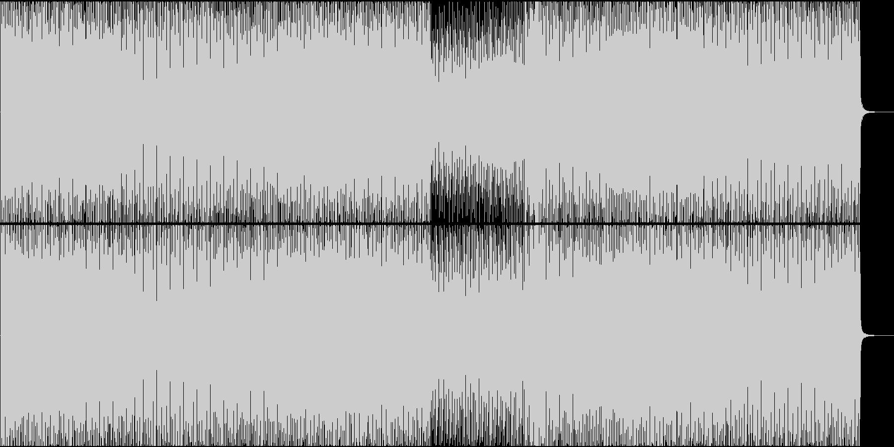 EDM系BGM(シンプルバージョン)の未再生の波形
