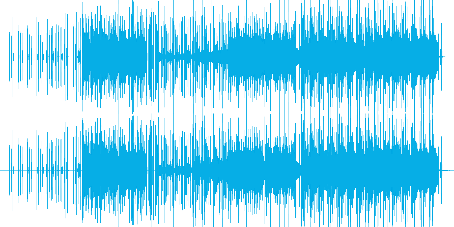 エレピのチャーミーなメロディと、ハード…の再生済みの波形