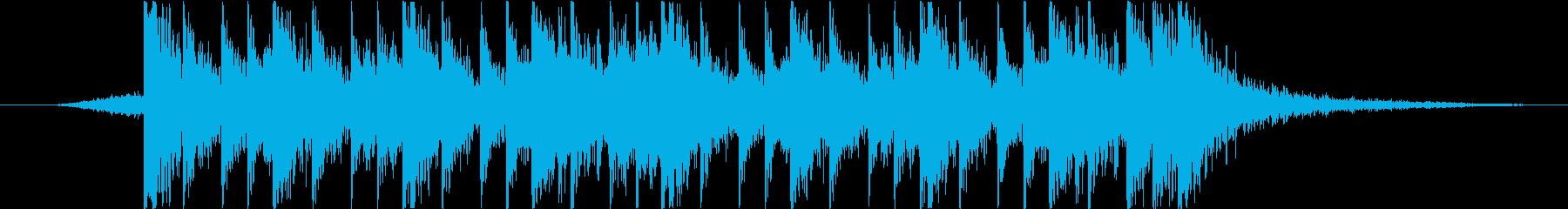 迫力のある太鼓の再生済みの波形