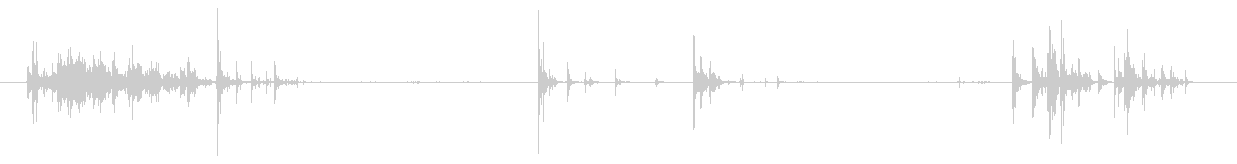 弾薬弾丸:金属弾薬箱の取り扱いと落下の未再生の波形