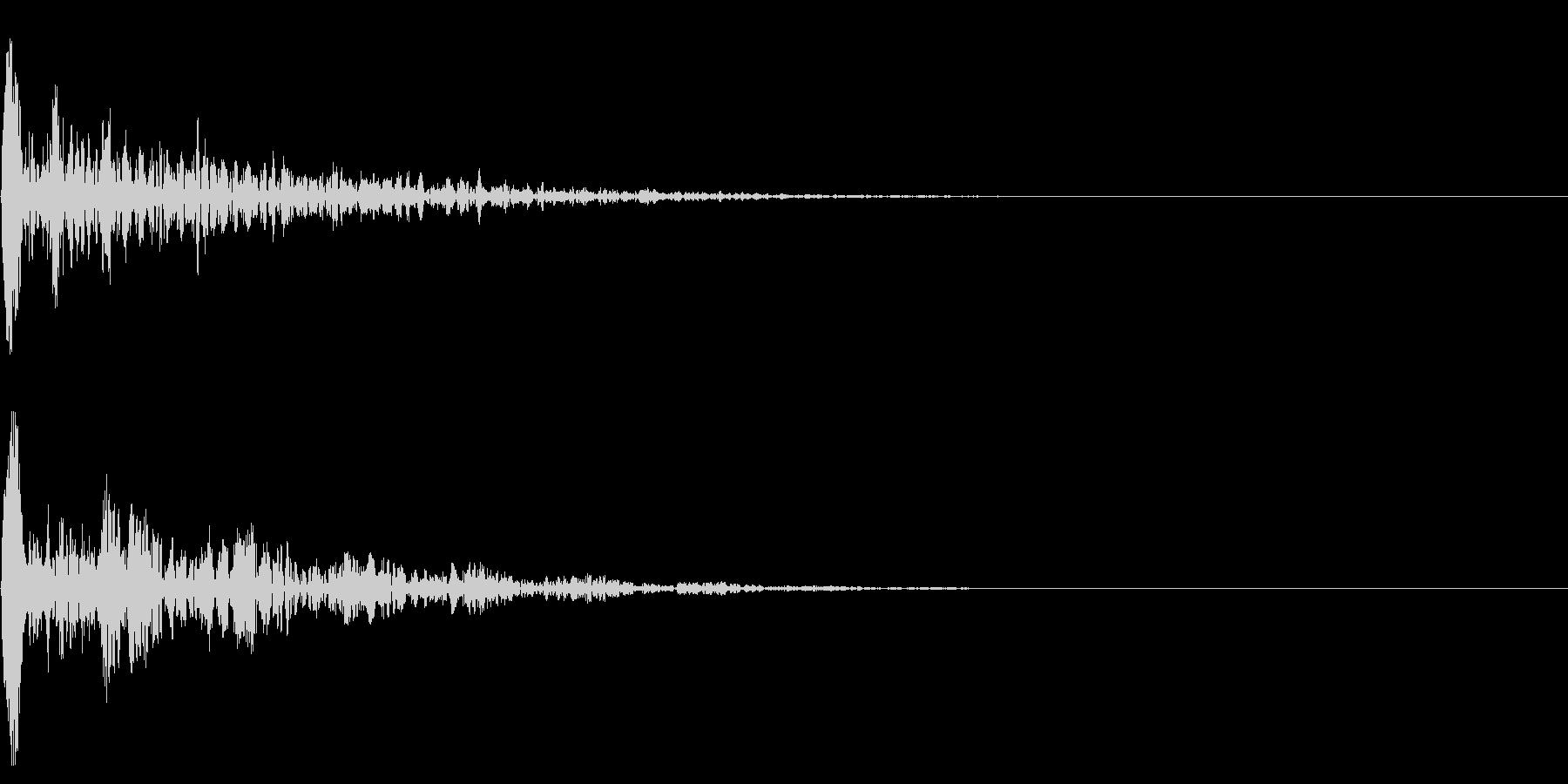シネマチックな重低音インパクト2・ブーンの未再生の波形
