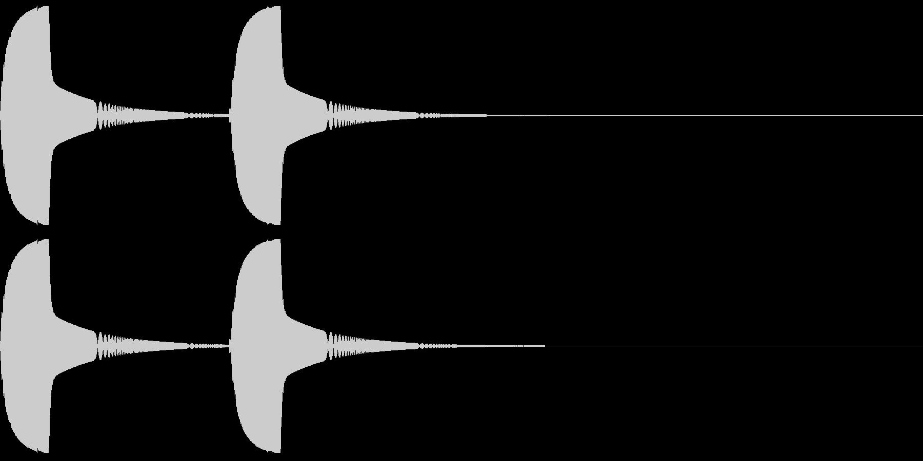 ツンツンと柔らかい物をつつく01の未再生の波形