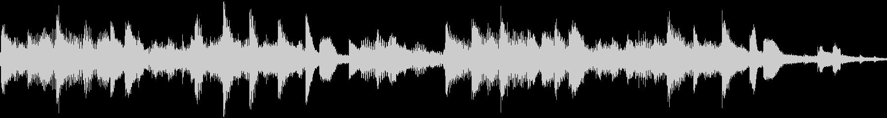 ループ マリンバとSEのエレクトロニカの未再生の波形