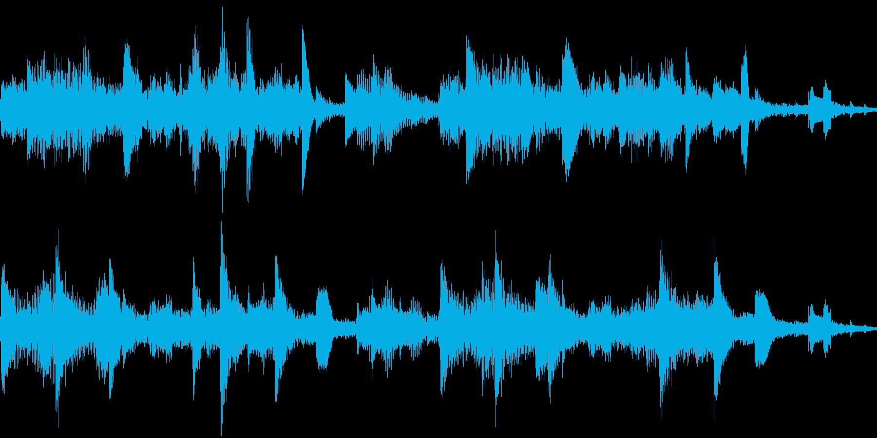 ループ マリンバとSEのエレクトロニカの再生済みの波形