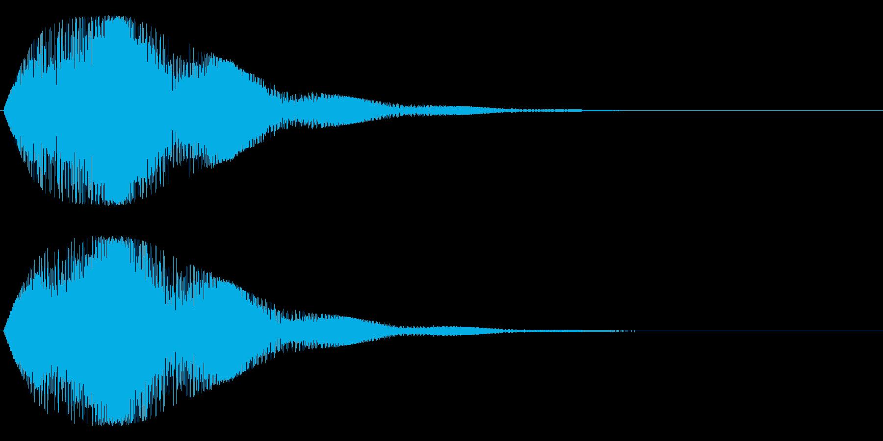 ゥワ~ンワ~ン(シンセ)の再生済みの波形