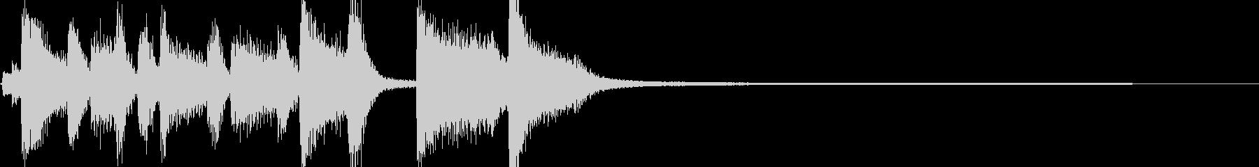 面白い実験が始まるジングルの未再生の波形