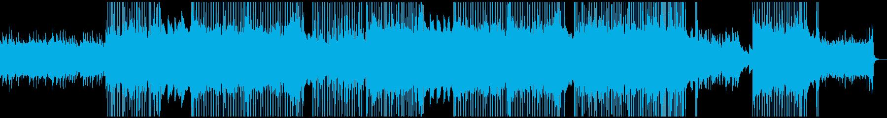キャッチーなポップロックBGMの再生済みの波形