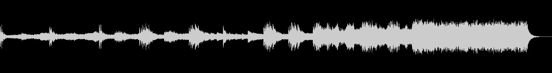 甲高い音、ピアノとシンセのスローな奏の未再生の波形