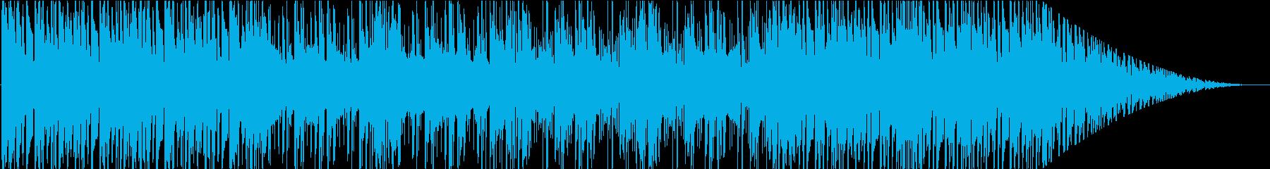 暗がりを歩く様なローファイBGMの再生済みの波形