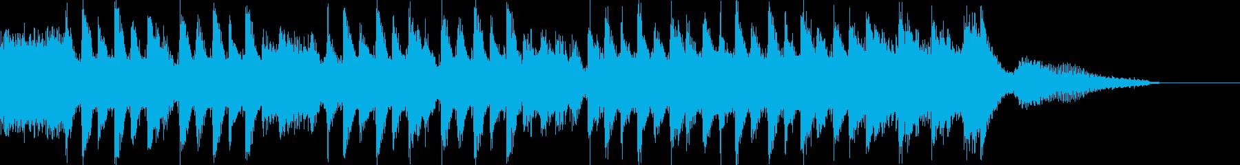 シンキングタイムに、ポップで楽しい曲の再生済みの波形