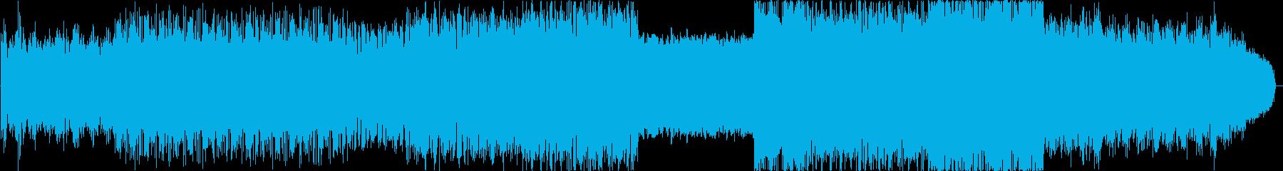 ヘビーメタル風ハードダンステクノの再生済みの波形