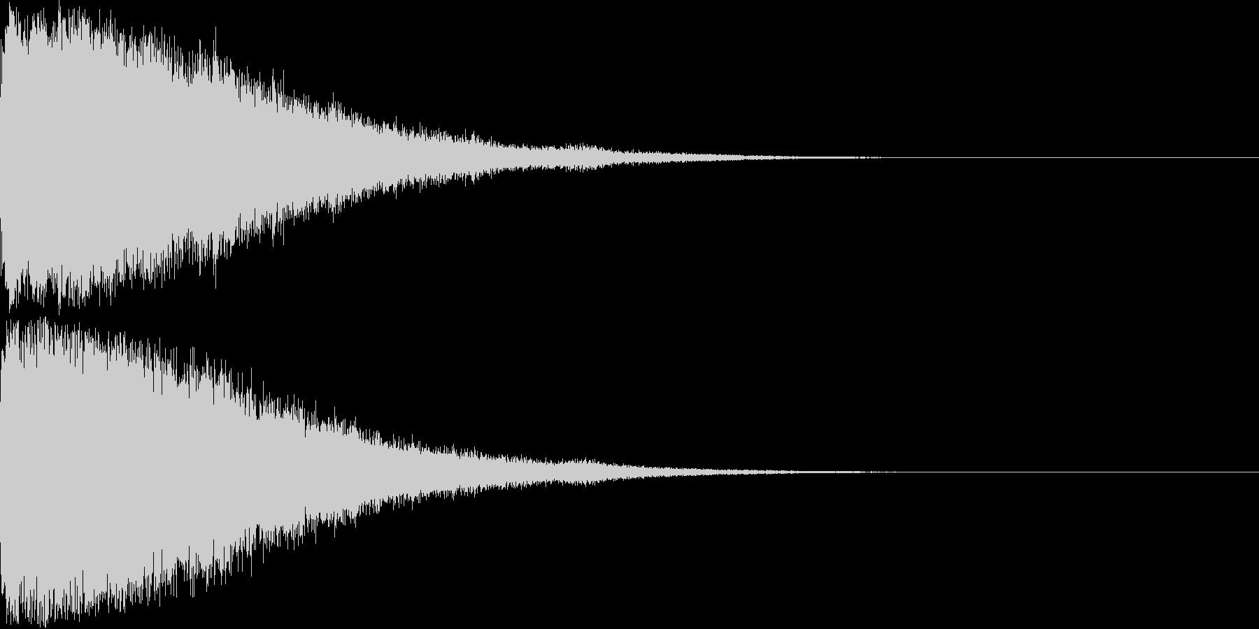 刀 剣 ソード カキーン キュイーン18の未再生の波形