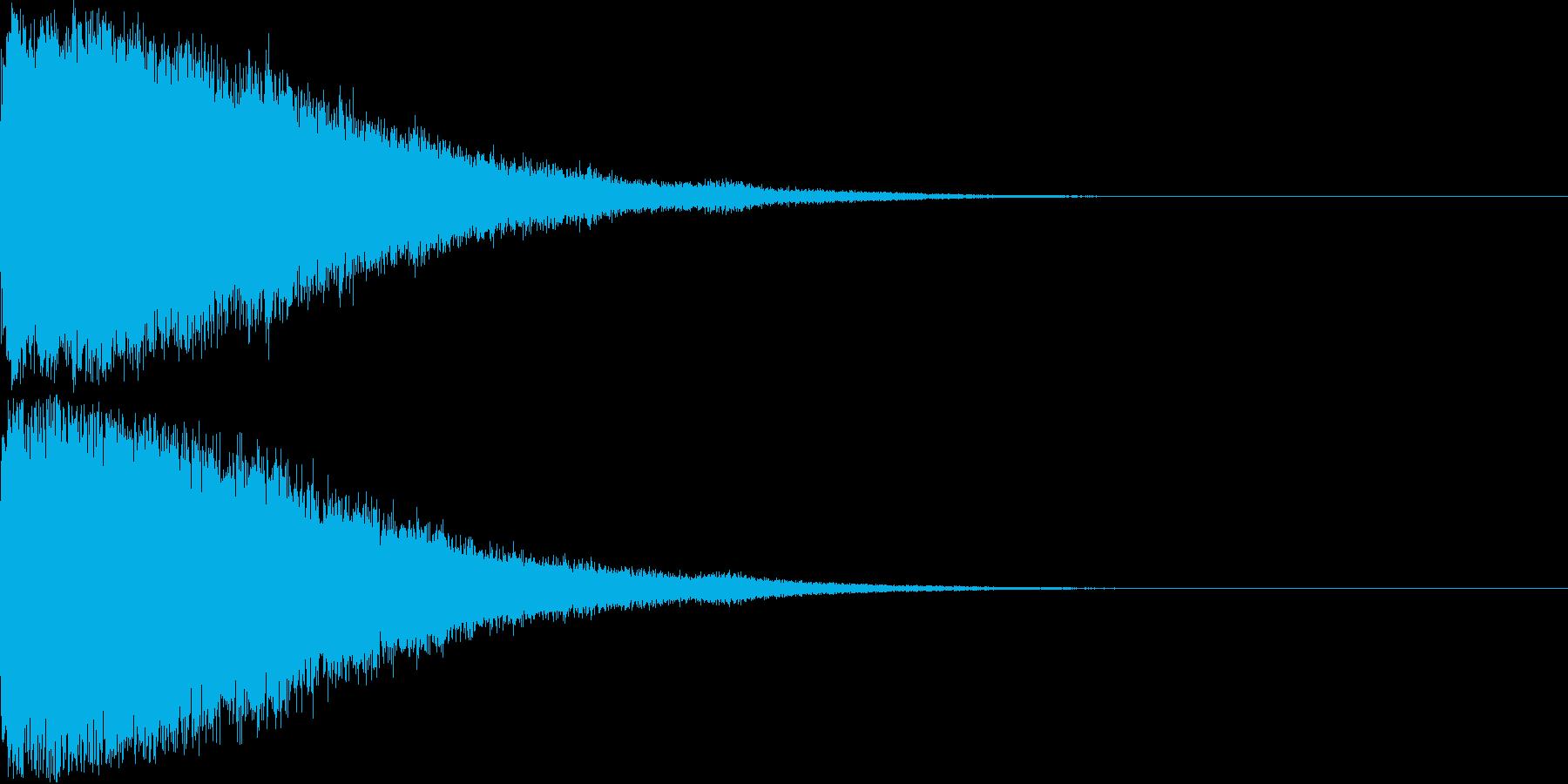刀 剣 ソード カキーン キュイーン18の再生済みの波形