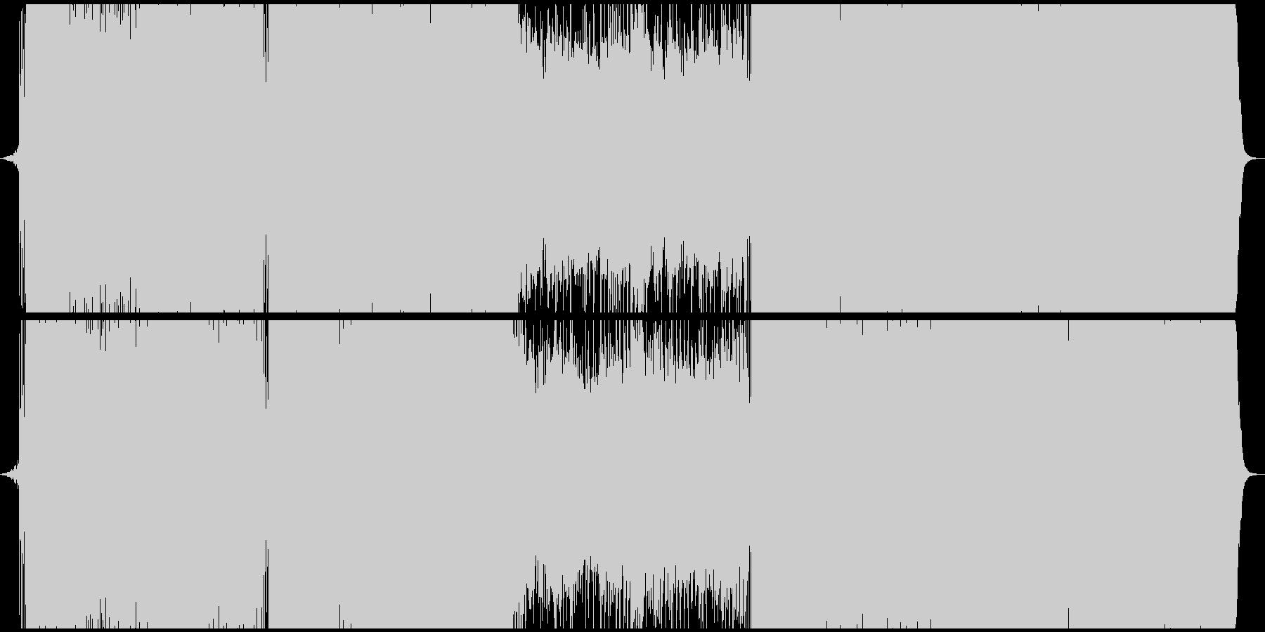 明るいFuture Bassの未再生の波形