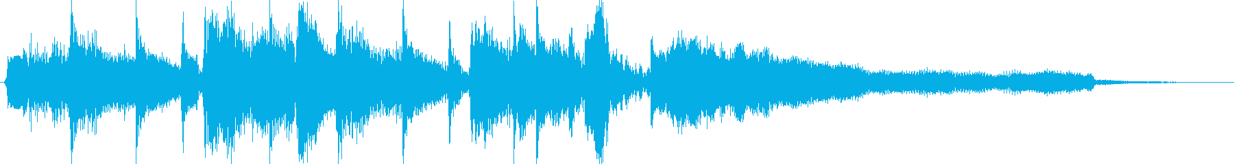 ビーチ風ジングルの再生済みの波形