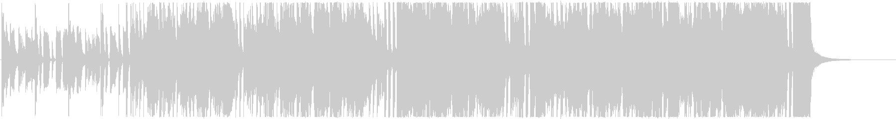 エレキギターのリフが印象的なファンクの未再生の波形