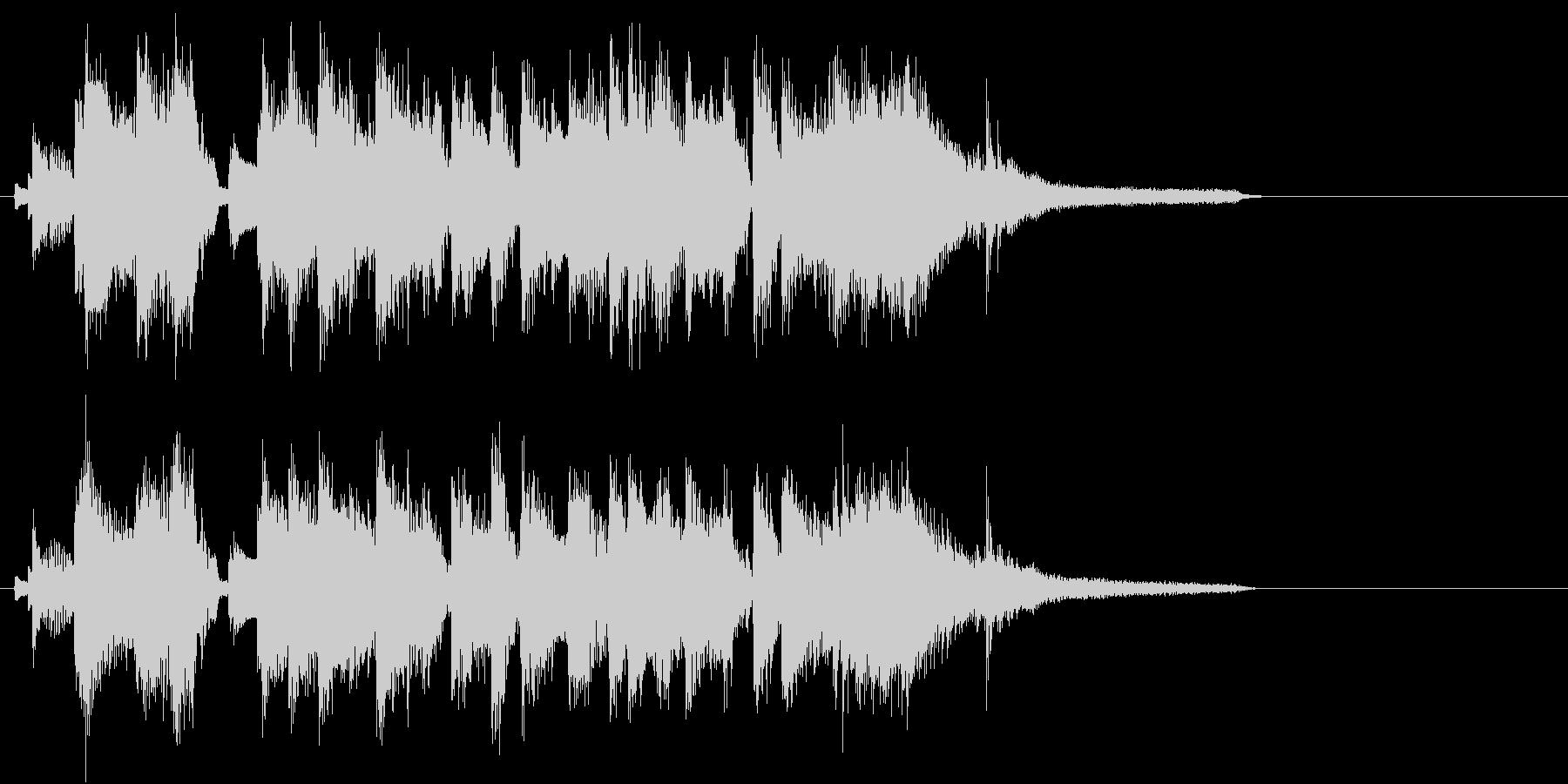 ピアノトリオでのジングル、ロゴ、キャッチの未再生の波形