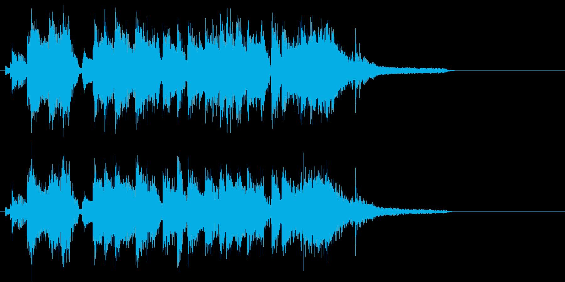 ピアノトリオでのジングル、ロゴ、キャッチの再生済みの波形