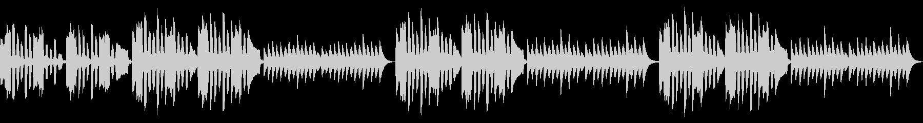 リコーダーとマリンバのコミカルなループ曲の未再生の波形